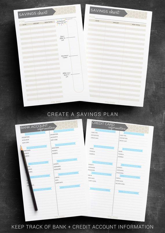 Finance Planner PRINTABLE Budget Planner by IndigoPrintables