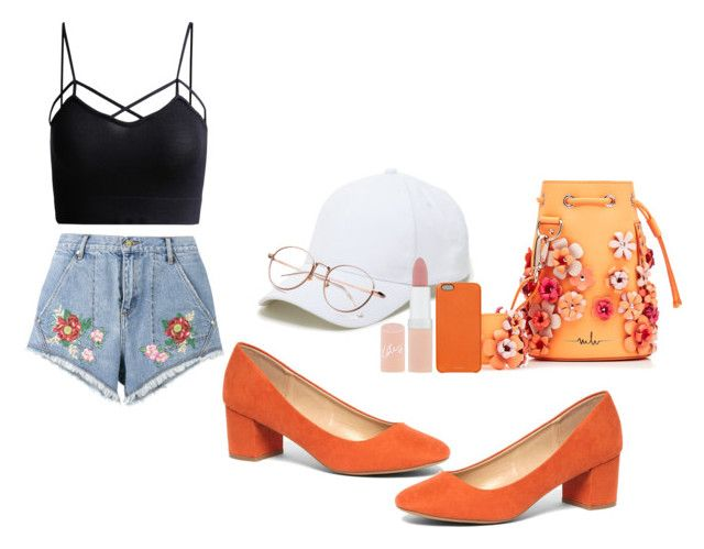 """a touch of orange"" by viennaelgiva on Polyvore featuring House of Holland, Dorothy Perkins, Marina Hoermanseder, Sole Society, Rimmel and Chaos"