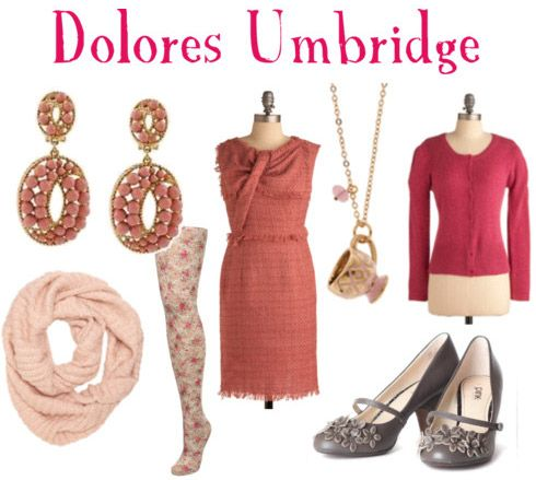 Fashion Inspired by Harry Potter and the Deathly Hallows Part I: Dolores Umbridge