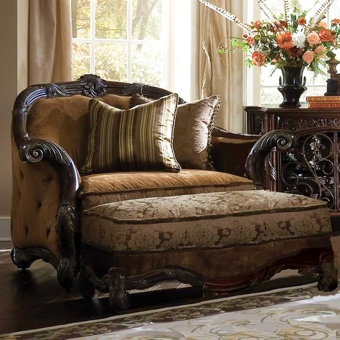 Cornwall Manor Chair, And Ottoman, Designer Collection ~ Magnoliahall.com