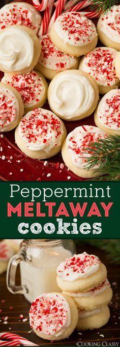 Peppermint Meltaway Cookies