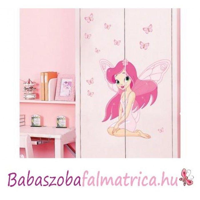 c67d9dafb2 Rózsaszín tündér kislány falmatrica #babaszoba #tündér #falmatrica #gyerek  #gyerekszoba #faldekoráció