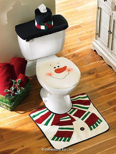 Juego de baño muñeco de nieve- Christmas idea