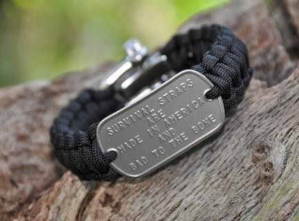 Regular Dog Tag Survival Bracelet™ - I'm thinking this would be a good Christmas gift for Conner, what do you think?  Check out the website, it's really a neat idea for hikers/nature lovers!