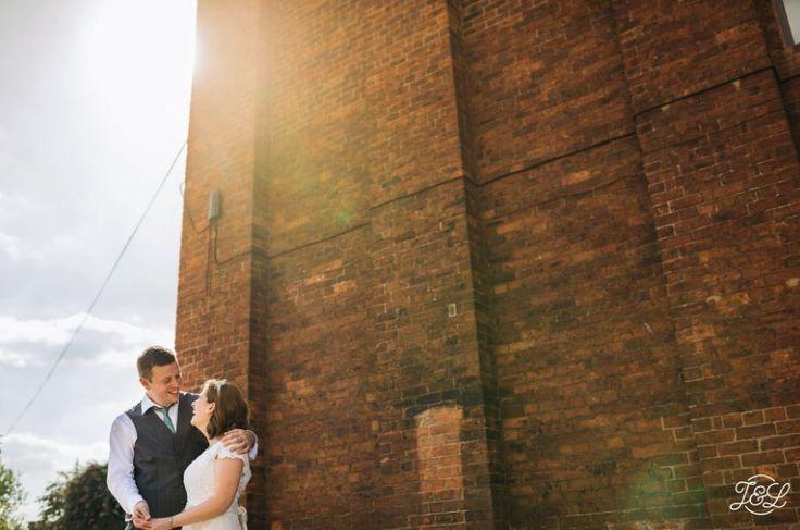 Bride and Groom Portrait Urban Northern Monk Brewery Wedding Leeds City Centre, Yorkshire, UK Wedding Photography