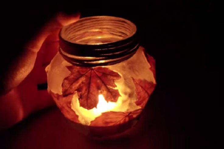 Comment bricoler un photophore d'automne! Tutoriel vidéo:
