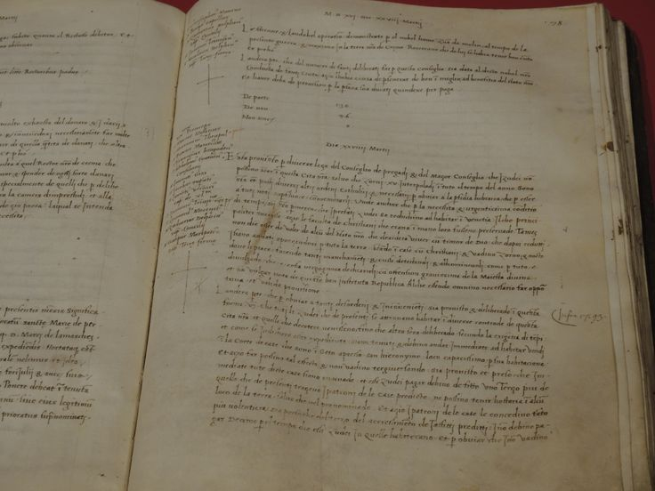 The original journal of the Venetian senate: the date shown is 29 of March 1516 when the decree of seclution was published and promulgated.