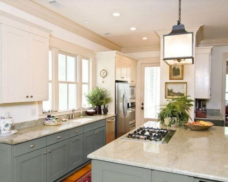 Interior Kitchen Design And Decoration Using Square White Glass Lantern Kitchen Pendant Kitchen Design Two Tone Kitchen Cabinets Replacing Kitchen Countertops