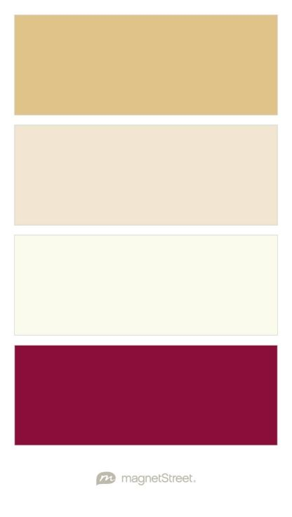 Gold, Champagne, Ivory, and Burgundy Wedding Color Palette - custom color palette created at MagnetStreet.com