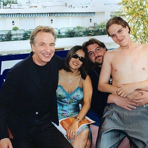 Alan with Kevin Smith, Salma Hayek and Jason Mewes