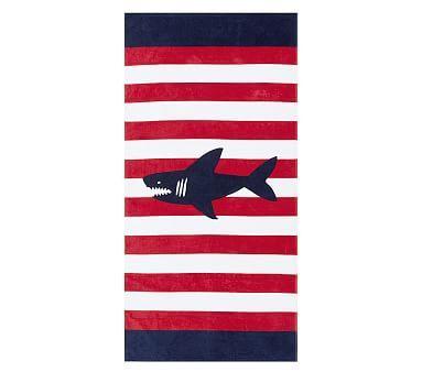 Shark Classic Stripe Kid Beach Towel, Multi