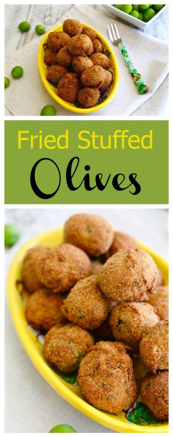 Italian Fried Stuffed Olives Olive all' Ascolana #SundaySupper