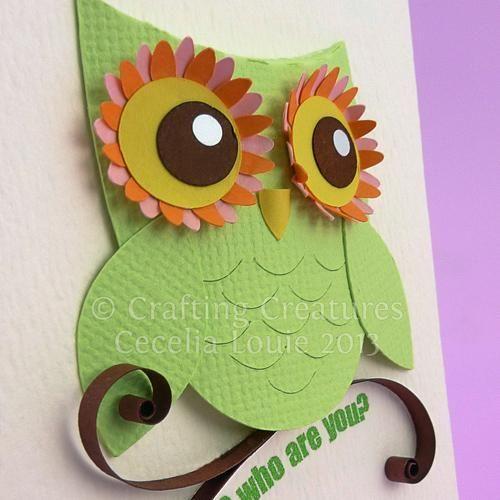 owl die cuts | Owl Die Cut for ATC Swap by Cecelia Louie | Paper Crafts Ideas