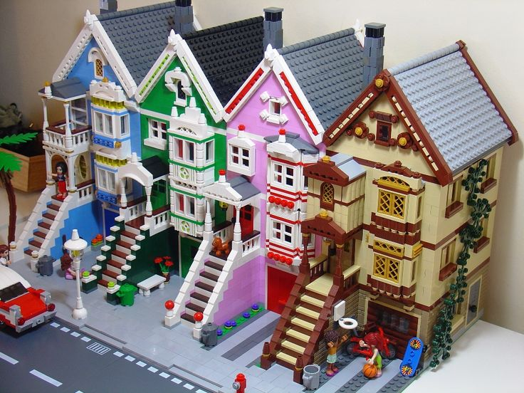 Painted Ladies of San Francisco done in Legos