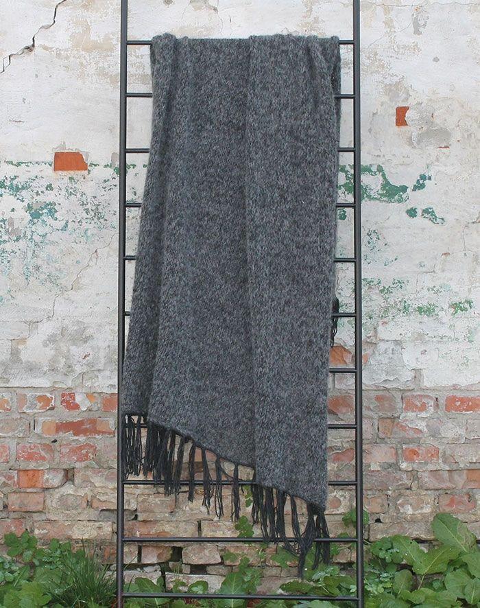 strikkekit til naturplaid i uld og alpaca
