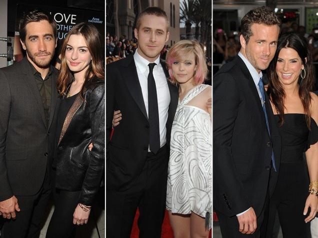 Anne Hathaway & Jake Gyllenhaal   Rachel McAdams & Ryan Gosling   Sandra Bullock & Ryan Reynolds