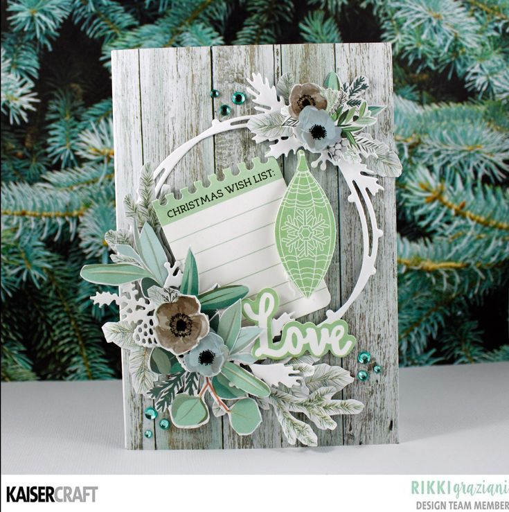 Today the Design Team have just the inspiration you need to make some lovely Mint Wishes Christmas Cards just in time for Christmas.