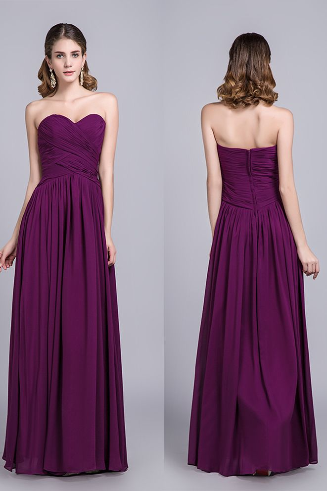 386540ec5d4 Affordable Bridesmaid Dresses Prom Dresses A-Line Sweetheart Floor-Length  Chiffon Grape  Affordable  BridesmaidDresses  PromDresses  ALine  Sweetheart  ...