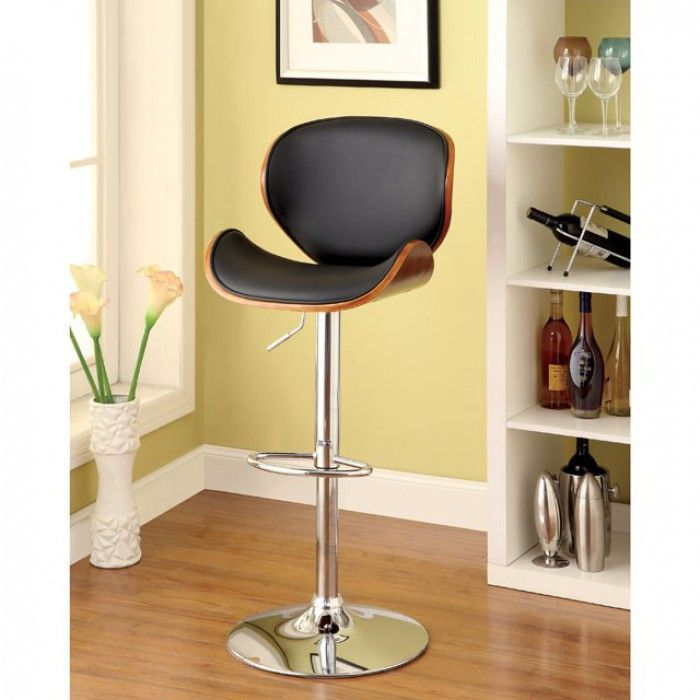 "Belo Barstool CM-BR6235 for $170 Description :  This swivel bar stool is height adjustable and designed with a curved back for support. Features :  Swivel Bar Stool Height Adjustable Leatherette Seat W/ Curved Back Wooden Trim Product Dimensions : Bar Stool : 19 1/4""W X 22""D X 37 1/4""H (UP TO 45""H) (SEAT HT: 24 1/2"" - 33 1/2"", SEAT DP: 17 1/2"")"