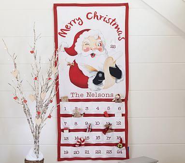 Printed Santa Advent Calendar #pbkids