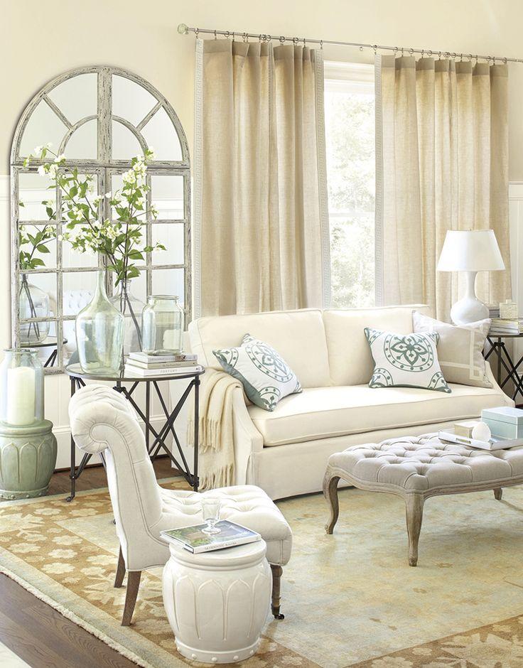 Neutral Living Room from Ballard Designs