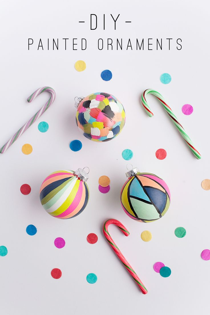 Need to make these! DIY Painted Ornaments from TellLoveandChocolate.com
