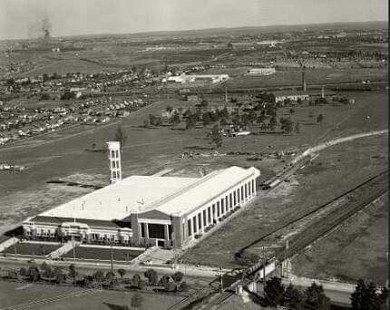 Ford assembly plant at 350-374 Parramatta Rd,Homebush in 1937. In 1935, they shifted their New South Wales operations to a new car manufacturing and assembly plant to Homebush. The Homebush factory was designed by architects Stephenson,Meldrum and Turner.The Ford Factory was formally opened on 31 March 1936 •Council of Heritage Motor Clubs•