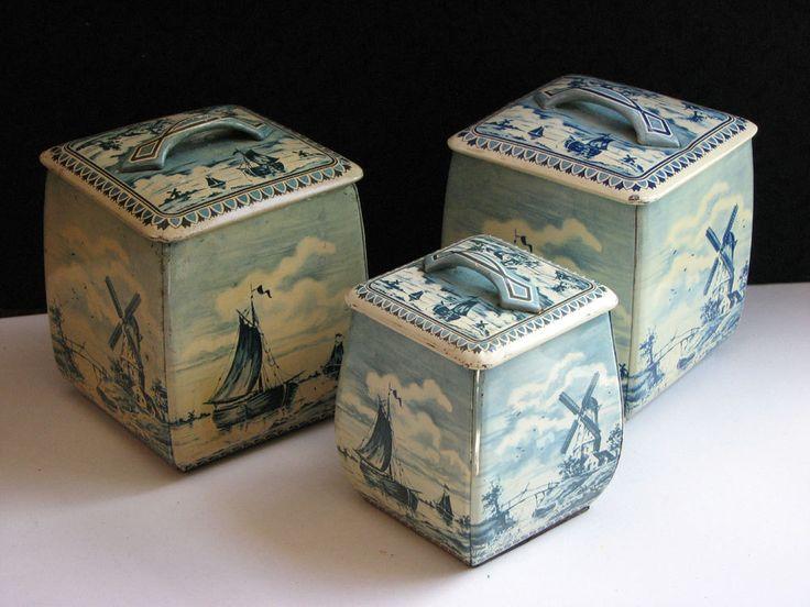 Vintage Tins Royal Verkade Holland and Germany Set of 3