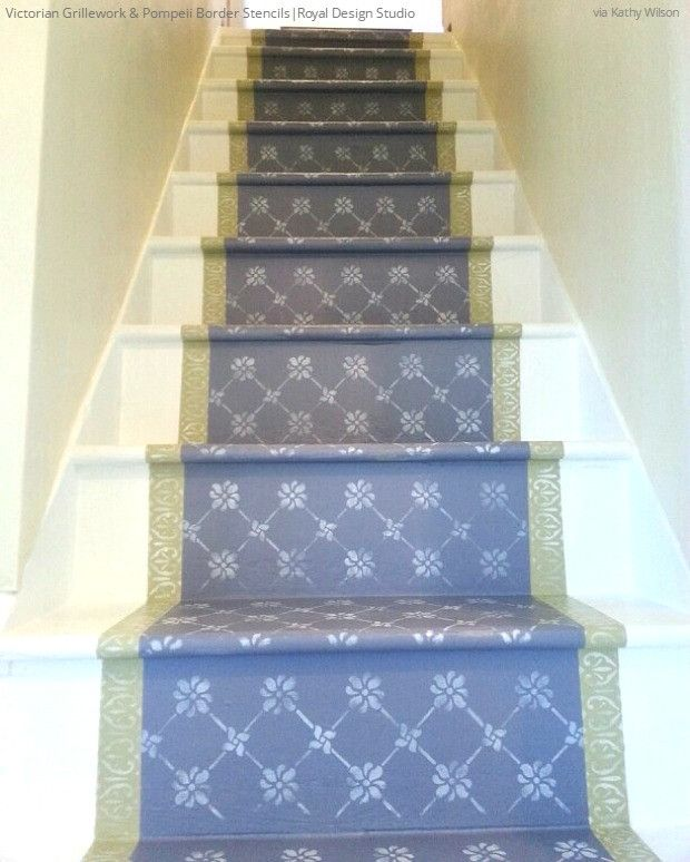 21 Attractive Painted Stairs Ideas Pictures: 580 Best Images About Wall & Furniture Stencils On Pinterest