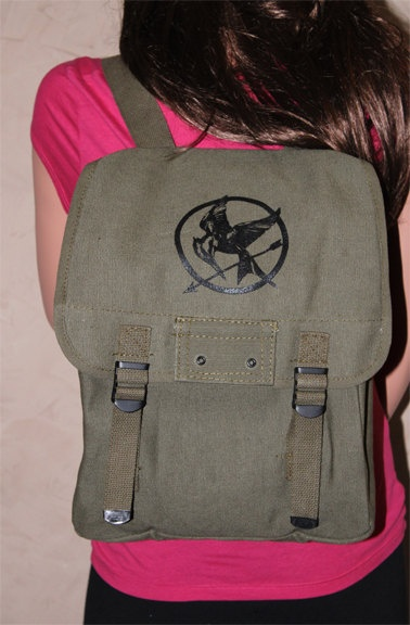 The Hunger Games Inspired Military Canvas Backpack want this!