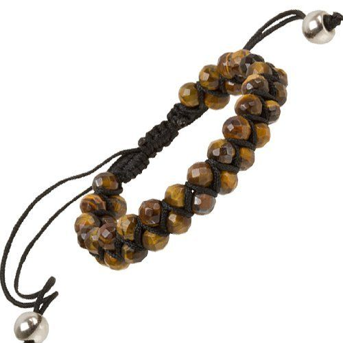"""Heirloom Finds Double Row Tiger Eye Bead Macrame Friendship Shamballa Bracelet Heirloom Finds. Save 56 Off!. $15.99. Arrives Gift Boxed!. Perfect for a Man or Woman. Double Row of faceted 6mm Beads, total bracelet width 12mm. Bracelet adjusts from 7"""" to 10"""". Wear alone or layer with other bracelets"""