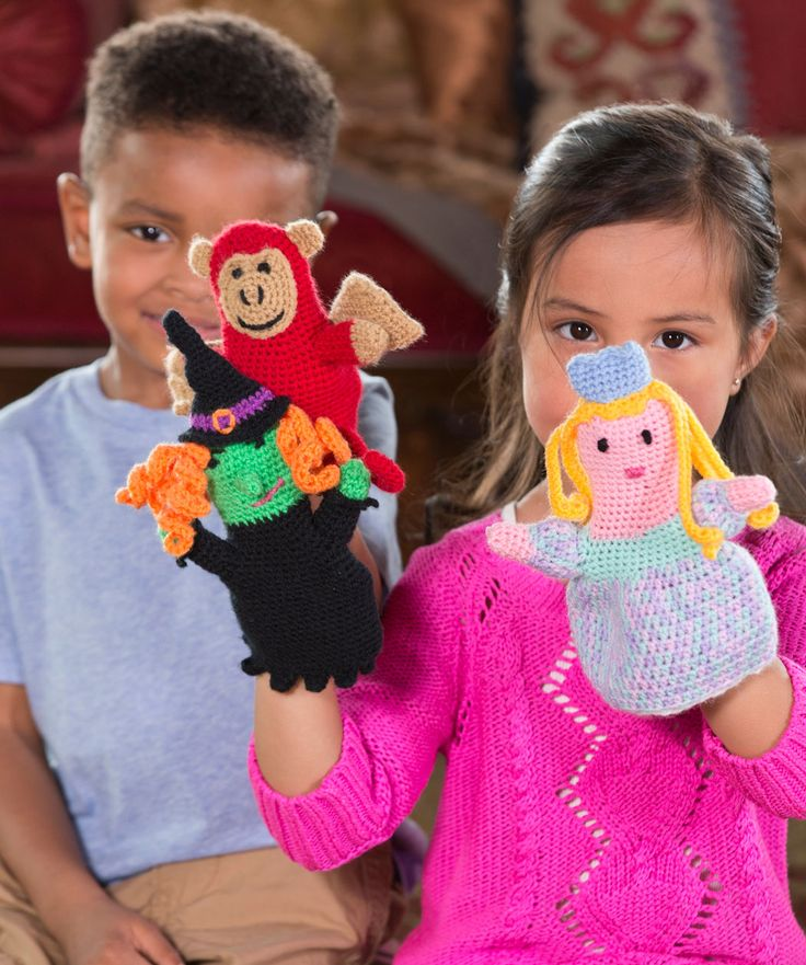 Puppets for Play Free Crochet Pattern from Red Heart Yarns