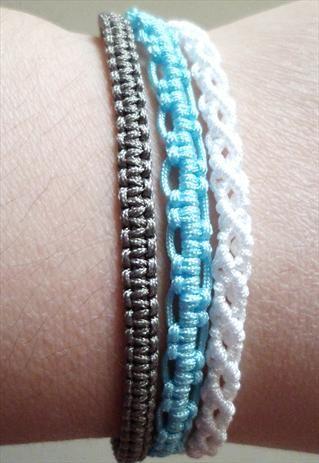 3 in 1 Macrame Knot Friendship Bracelet