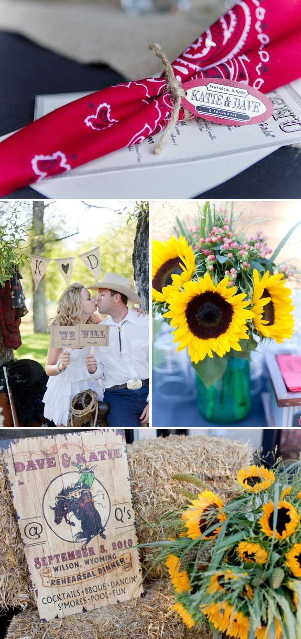 Love what they did with the cowboy theme for a wedding rehearsal dinner. Photo booth is adorable!