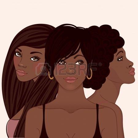 Güzellik Salonu: şık saç kesimi Vector illustration ile sevimli genç african kadın photo