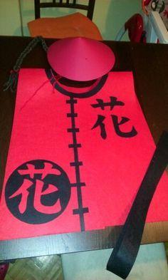 Disfraz casero de chino para niño