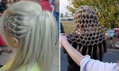 """Прическа """"Сеточка"""" из волос"""