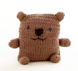 Loom Knit Bear.  I bet I can figure out how to knit it without the loom kit. . .