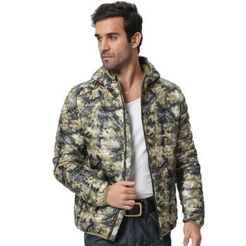 Mannen Hooded Camouflage Winter Donsjacks 2016 Nieuwe Collectie Ultralight 90% Eend Sneeuw Fashion Parka Warme Jassen F1532-EU 3