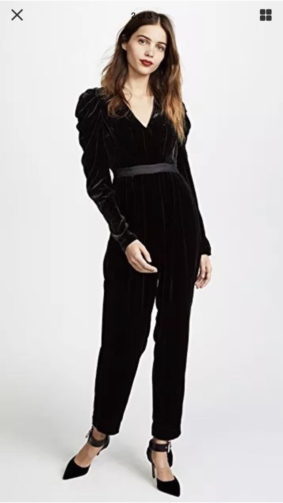 eb88f36811c Ulla Johnson Black Velvet Jumpsuit  fashion  clothing  shoes  accessories   womensclothing