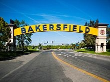 Bakersfield, California --- This sign used to be across the highway entering Bakersfield from the highway coming from the L.A. area.