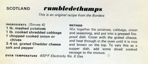 rumbledethumps (add sausage)