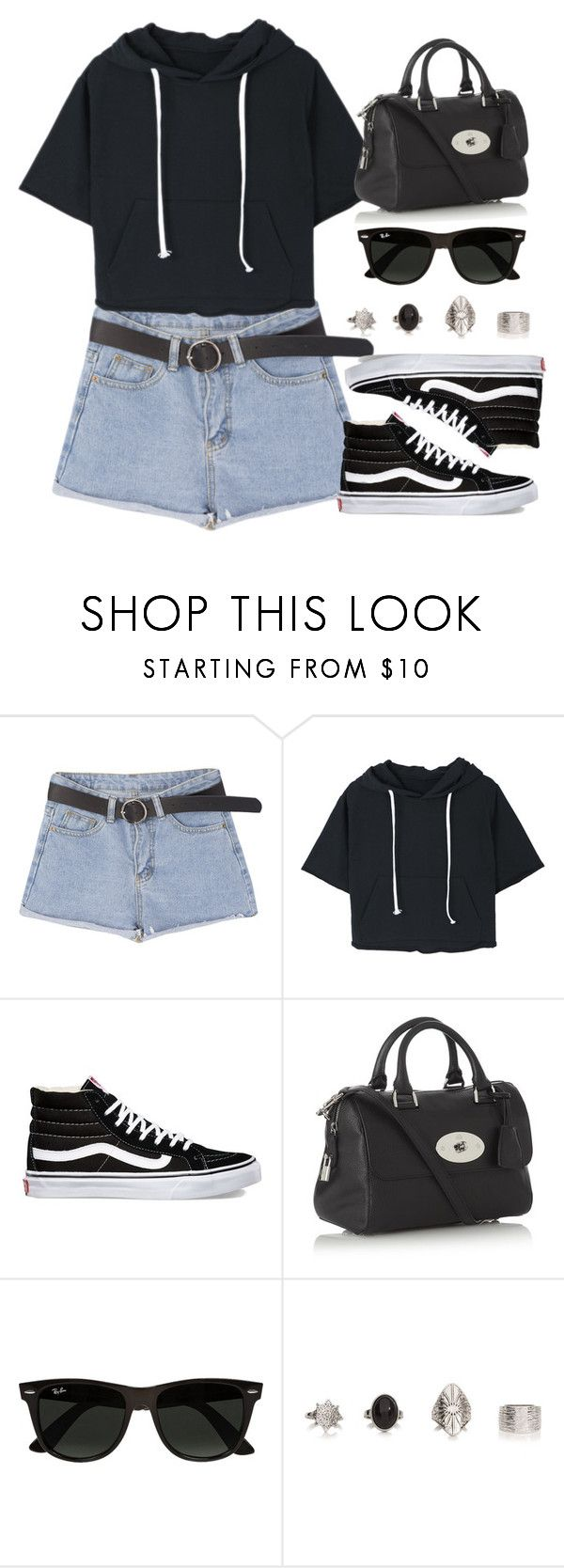 """""""Sin título #12751"""" by vany-alvarado ❤ liked on Polyvore featuring Vans, Mulberry and Ray-Ban"""