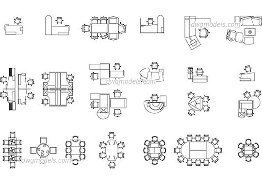 download office table cad