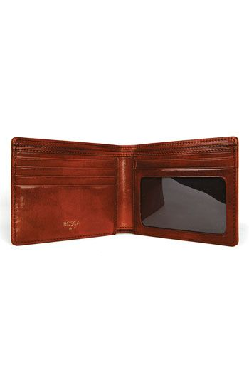 I will get this as his leather gift for our third anniversary, God willinng.   Bosca 'Executive - Old Leather' Wallet | Nordstrom
