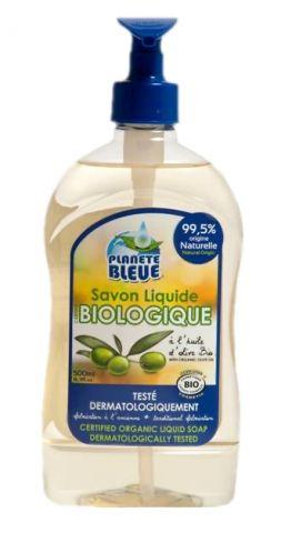 Sapunul lichid certificat biologic de la Planete Bleue este formulat in mod special avand la baza uleiul de masline bio. Testat sub control dermatologic, curata in mod delicat mainile. Este fabricat dupa o metoda veche din Marsilia si sub responsabilitatea maistrilor sapunieri. Fiert in cazan, sapunul are la baza ulei vegetal de masline bio.