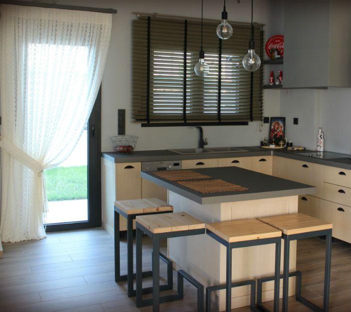 Κουρτίνα και κάθετη περσίδα ξύλινη 432