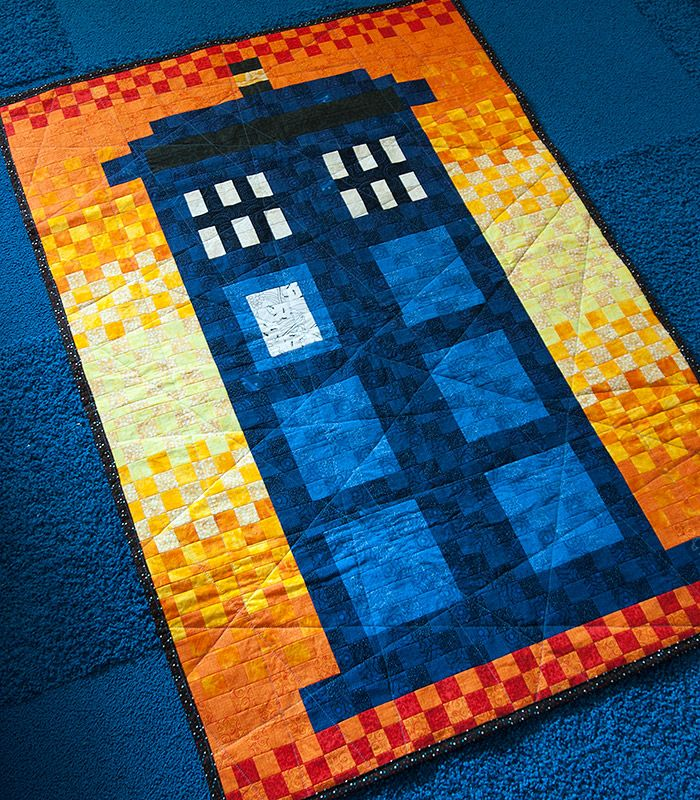 Tardis quilt, Union Jack on the back. SHUT UP AND TAKE MY MONEY!!!!