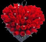 3 Dozen Roses Heart