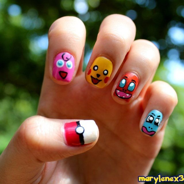 34 best crazy impressive nail art images on pinterest dress up 29 examples of marvellously geeky nail art prinsesfo Image collections